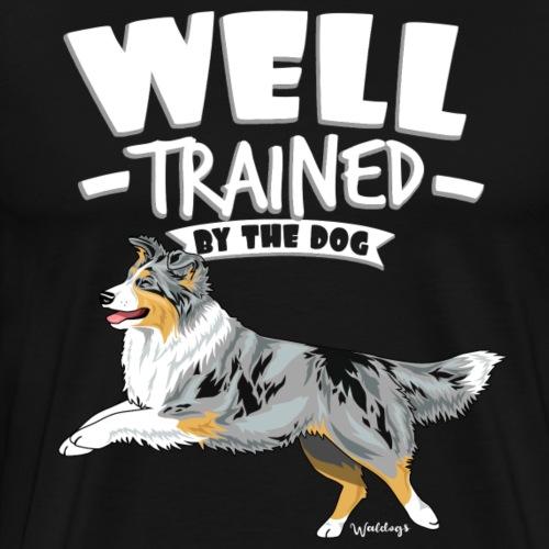 Australian Shepherd Well 3 - Men's Premium T-Shirt