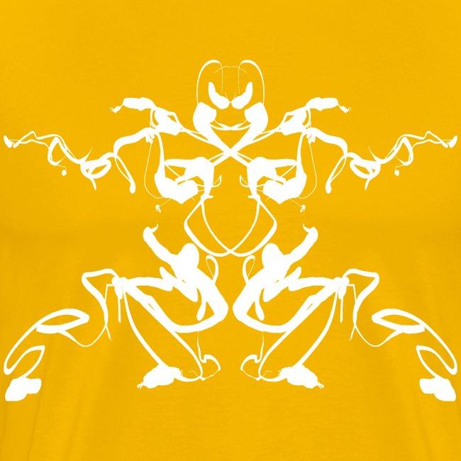 "Rorschach test of a Shaolin figure ""Tigerstyle"""