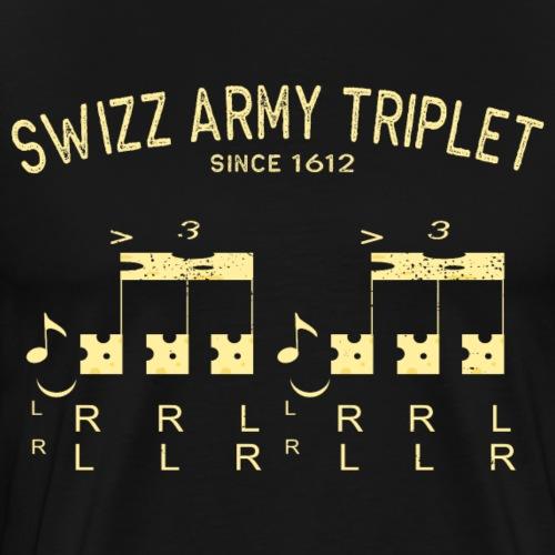 Drummer - Swizz Army Triplet - Männer Premium T-Shirt