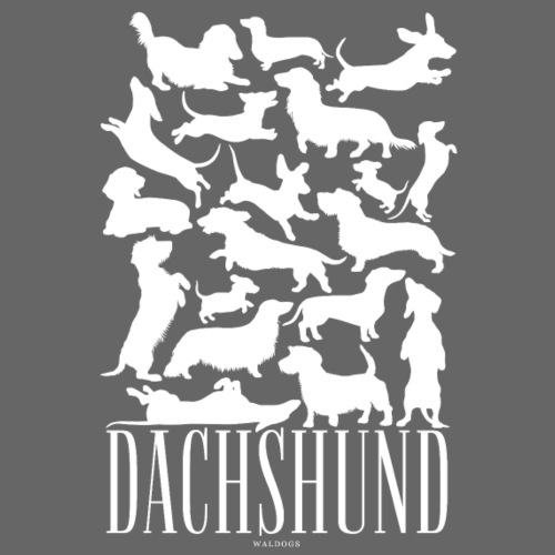 Dachshund White - Miesten premium t-paita