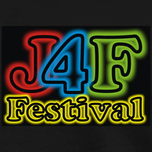Just4Fun Festival Logo Schwarz - Männer Premium T-Shirt