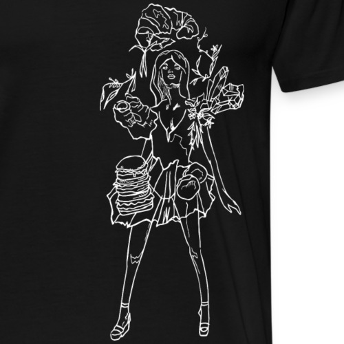 Fashion food lady in white - Männer Premium T-Shirt
