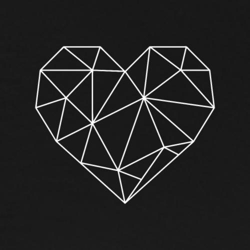 Geometrisches Herz - Männer Premium T-Shirt