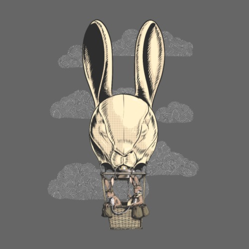 Hot Hare Balloon - Men's Premium T-Shirt