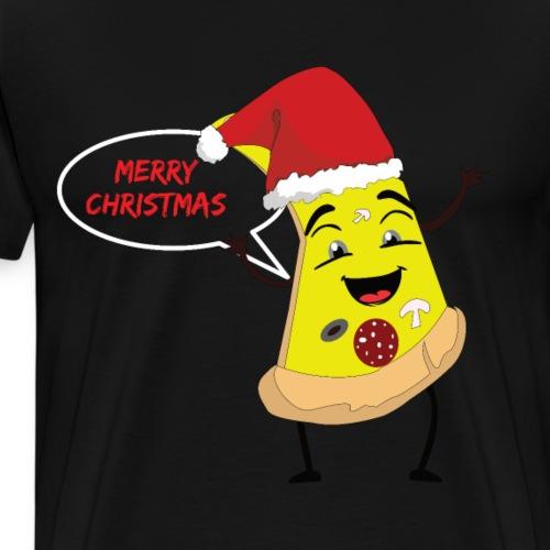 Merry Christmas Pizza - Männer Premium T-Shirt