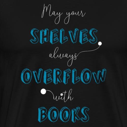 0034 book lover | Bookshelf | Book Rebels - Men's Premium T-Shirt