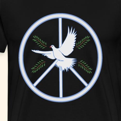 Peace, Love, Hippie, Taube 60- 70-Jahre Shirt - Männer Premium T-Shirt