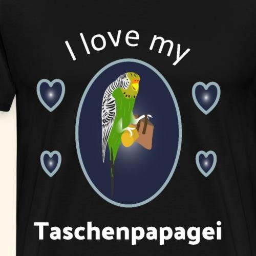 Wellensittich, Liebe, Vogel, Taschenpapagei Shirt