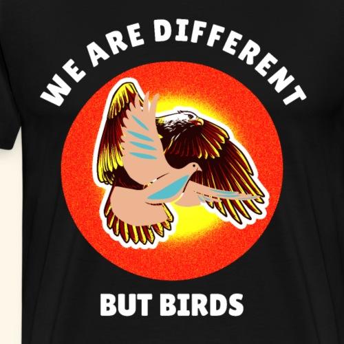 Adler, Taube nicht gleich, aber Vögel - Männer Premium T-Shirt