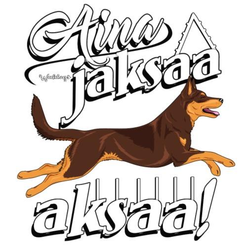 Australiankelpie Aksaa - Miesten premium t-paita