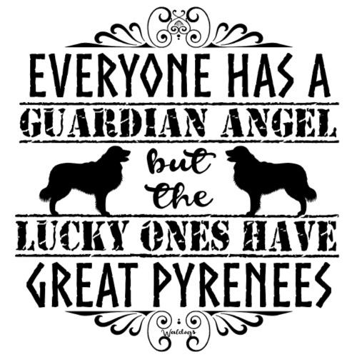 Great Pyrenees Angel - Miesten premium t-paita