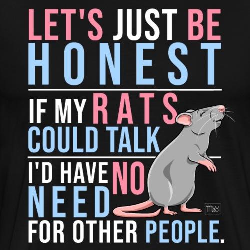 If Rats Could Talk I - Miesten premium t-paita