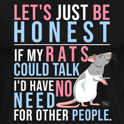 If Rats Could Talk VIII - Miesten premium t-paita