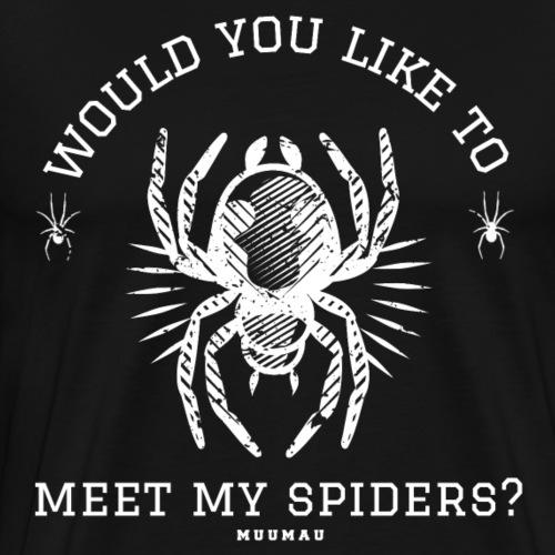 Meet my Spiders - Miesten premium t-paita