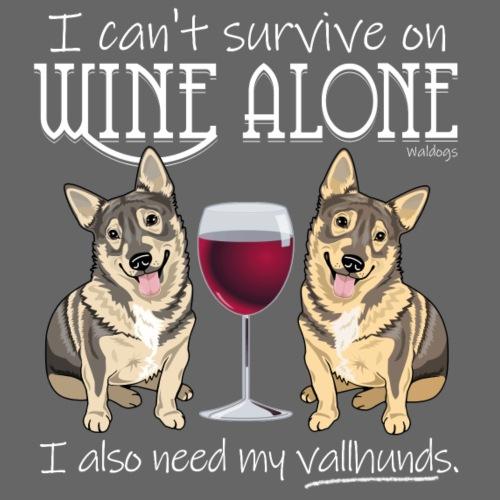 Wine Alone Vallhunds - Miesten premium t-paita