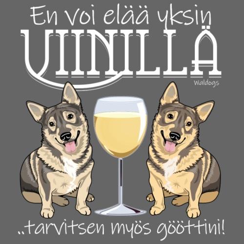 Yksin Viinillä Göötti - Miesten premium t-paita