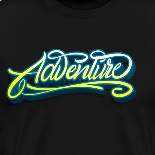 Abenteuer schrift - Männer Premium T-Shirt