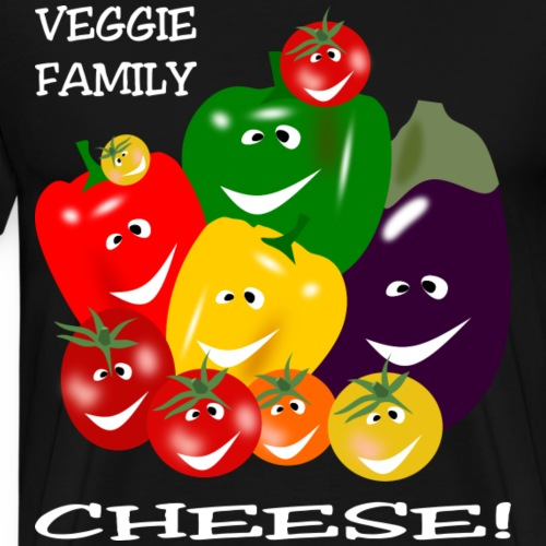 Veggie Family - Cheese! - Men's Premium T-Shirt