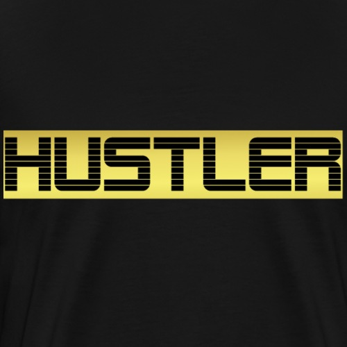 Hustler Gold Edition - Männer Premium T-Shirt