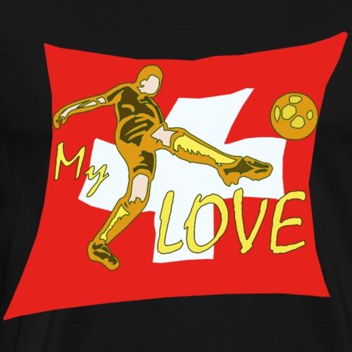 Fussball WM My Love Schweiz - Männer Premium T-Shirt