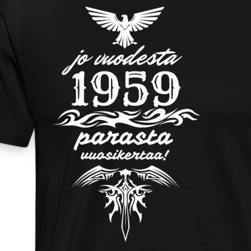 Parasta vuosikertaa, 1959 - Miesten premium t-paita
