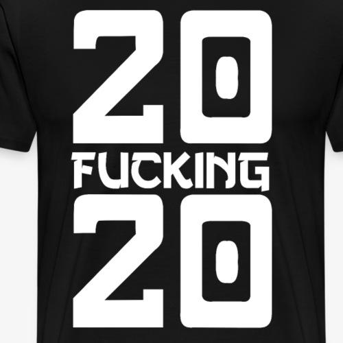 20 fucking 20 2020 scheiss jahr - Männer Premium T-Shirt