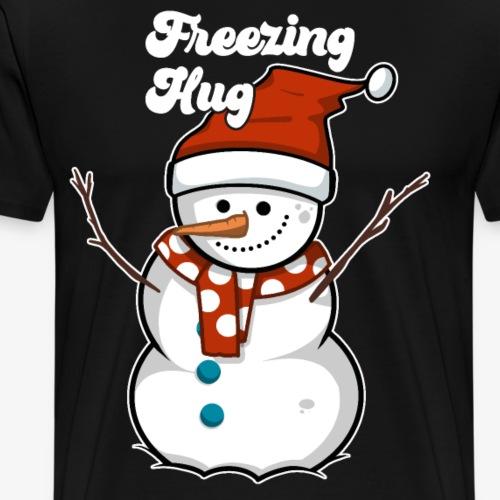Schneemann Weihnachtsgeschenk - Männer Premium T-Shirt
