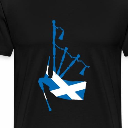 Schottischer Dudelsack und Flagge - Männer Premium T-Shirt