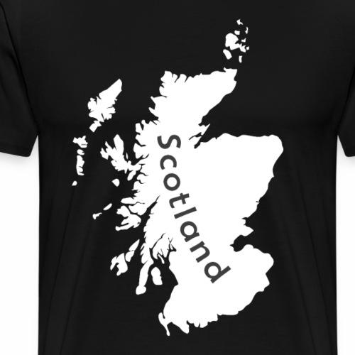 Schottland Karte - Männer Premium T-Shirt