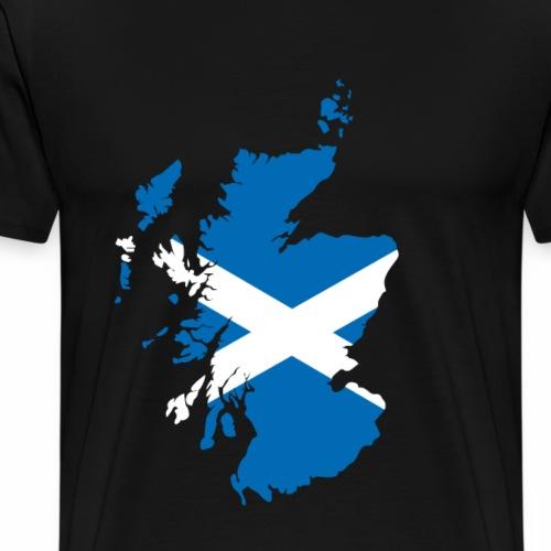 Karte von Schottland mit schottischer Flagge - Männer Premium T-Shirt