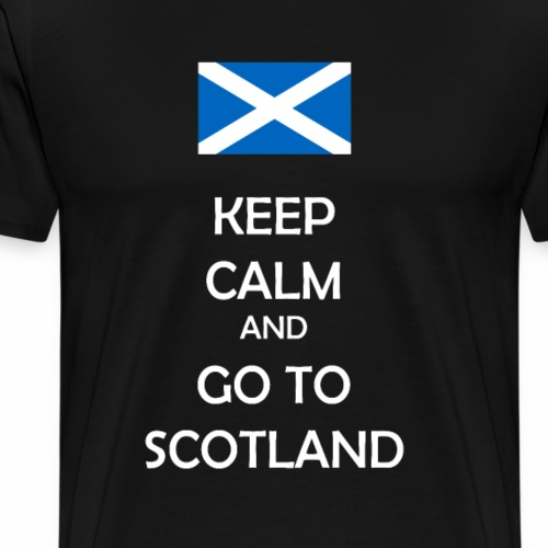 Keep calm and go to Scotland - Schottland Fanshirt - Männer Premium T-Shirt