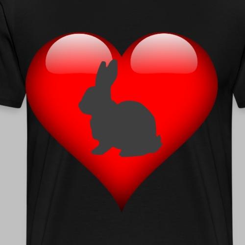 bunny love kaninchen liebe Geschenkidee - Männer Premium T-Shirt