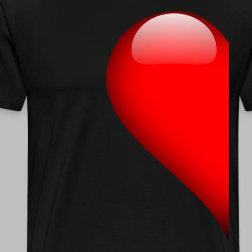 Herz linke Hälfte Vallentinstag Liebe Partner - Männer Premium T-Shirt