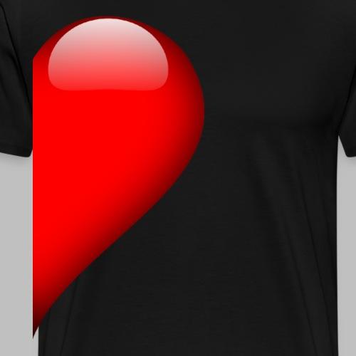 Herz rechte Hälfte Vallentinstag Liebe Partner - Männer Premium T-Shirt