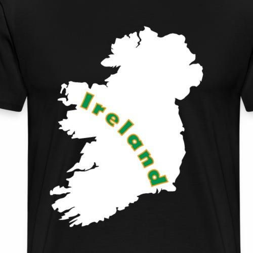 Karte von Irland - Männer Premium T-Shirt