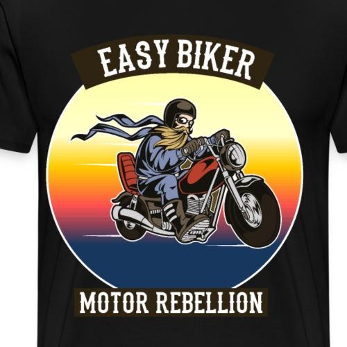 easy biker motor rebellion sonnenuntergang - Männer Premium T-Shirt