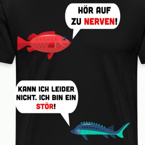Fisch Fische Stör Lustig Spruch Meme Angeln - Männer Premium T-Shirt