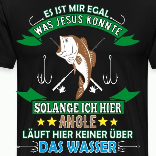 Hobby Angeln Angler Fischen Jesus Leidenschaft - Männer Premium T-Shirt