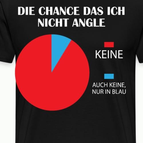 Angeln Diagramm Angler Fischen Hobby Fisch Angel - Männer Premium T-Shirt
