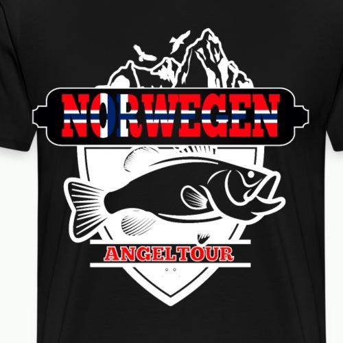 Norwegen Angeltour Fjord Boot Angeln Angler Dorsch - Männer Premium T-Shirt