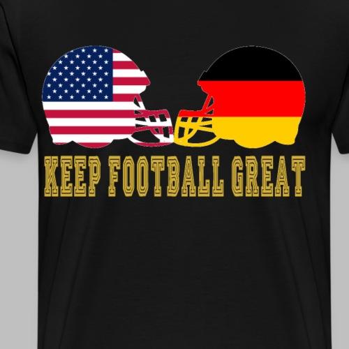 Keep Football Great Football helme USA Deutschland - Männer Premium T-Shirt
