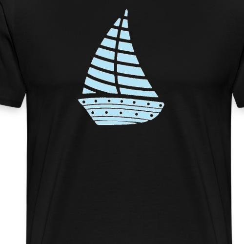 segelboot segeln hobby Geschenkidee Kapitän - Männer Premium T-Shirt