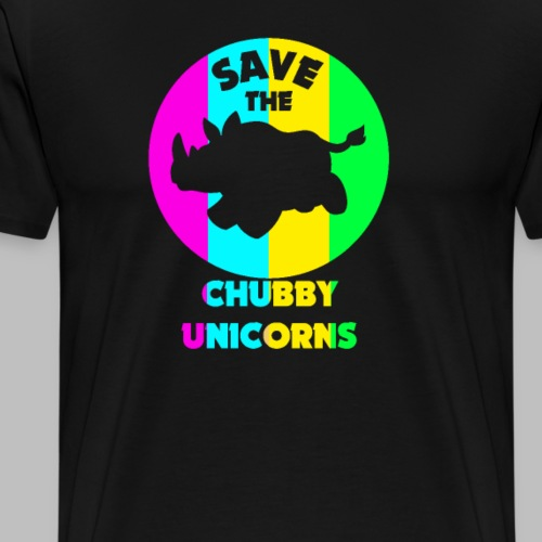 Nashorn save the chubby unicorns funny Geschenk - Männer Premium T-Shirt