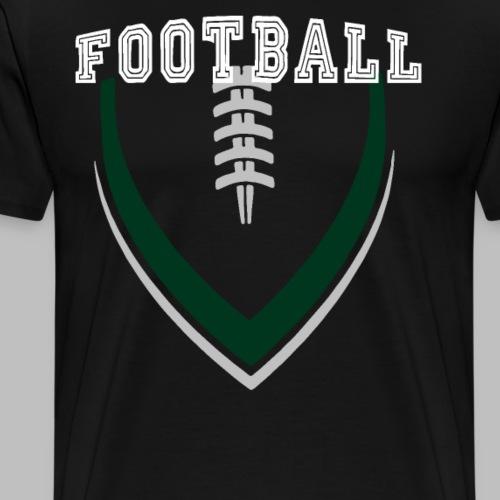 Football LOGO Ball American Football Geschenkidee - Männer Premium T-Shirt
