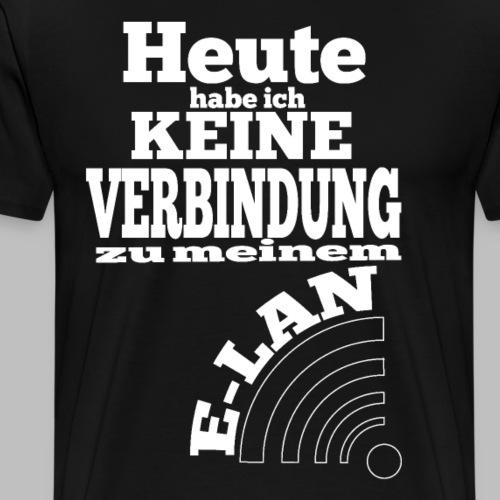 keine Verbindung zu meinem E-LAN W-LAN Symbol - Männer Premium T-Shirt