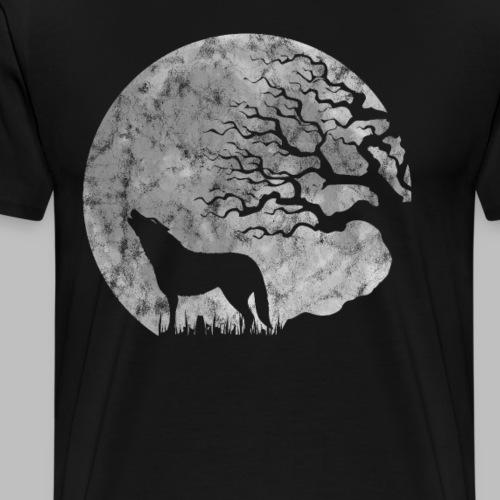 Vollmond heulender Wolf mystisch Werwolf Fantasy - Männer Premium T-Shirt