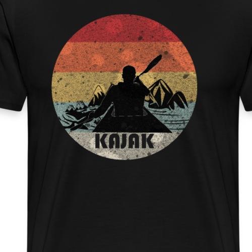 Kajak Kanu padeln Fluss Berge Retro Geschenk - Männer Premium T-Shirt