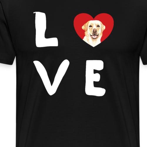 love Labrador Hundebesitzer Hundezüchter Geschenke - Männer Premium T-Shirt