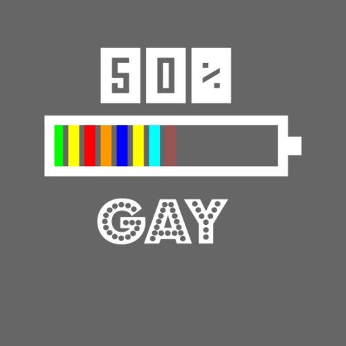 50% Gay Geschenk Lustig Schwul - Männer Premium T-Shirt