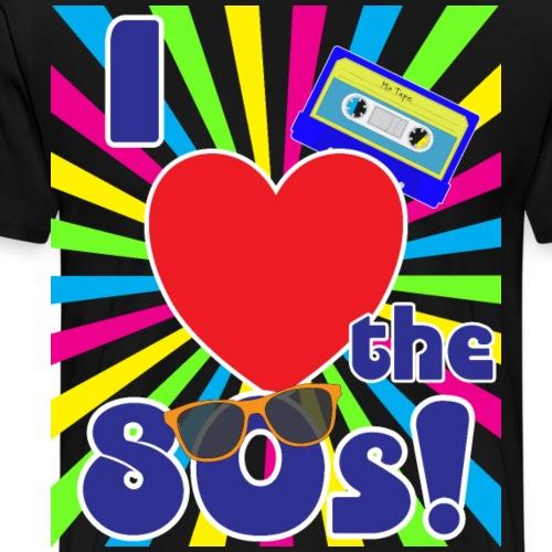 I love the 80s Kostüm Party Retro - Männer Premium T-Shirt